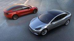 特斯拉Model 3真的来了 既没有车钥匙也没有仪表盘